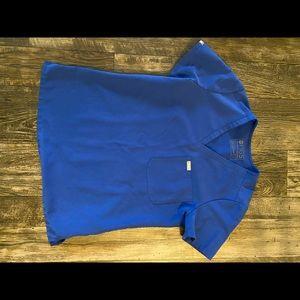 Figs winning blue scrub top